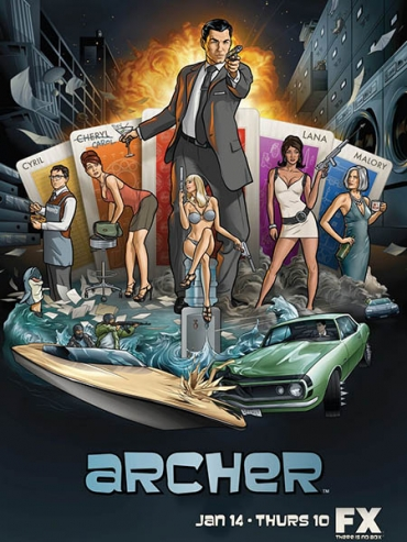 Спецагент Арчер (1 сезон) / Archer (2010) WEB-DLRip