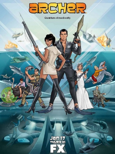 Спецагент Арчер (4 сезон) / Archer (2013) WEB-DLRip